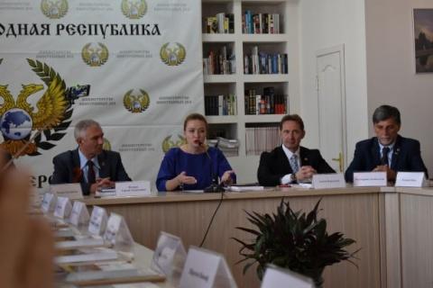 Empfang bei der Außenministerin Natalia Nikonorova