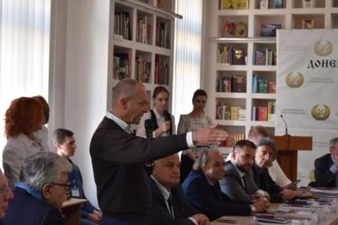 W Murgg, steirischer LA-Abgeordneter KPÖ, stellt die österreichische Delegation vor