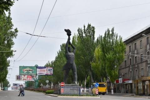 Lugansk weist unzählige realsozialistische Denkmäler auf