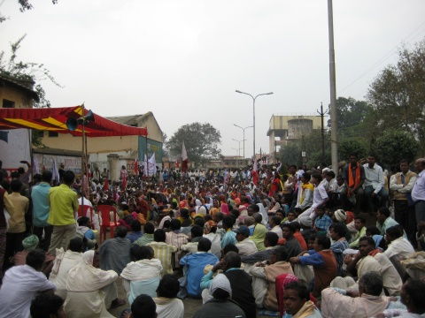 Tribal demonstration in Bilaspur, Chhattisgarh