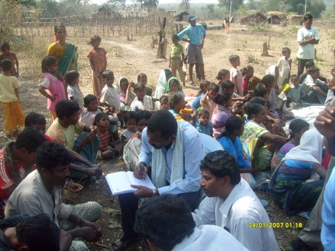 Andra Pradesh Civil Liberity Committee (APCLC) gather witness reports.