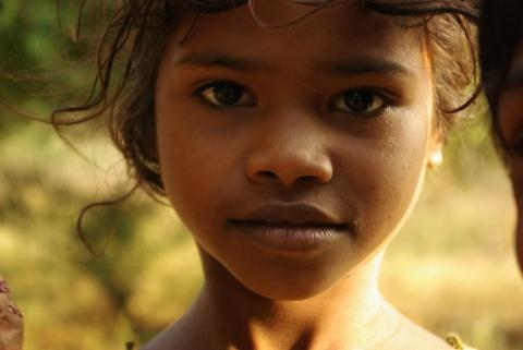 Adivasi child from the Koja tribal group.