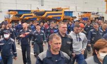 Streik in der Fabrik BelAz in Weißrussland