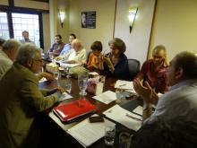 Delegation bei Kadri Shamil (r), Vizepremier und Minister