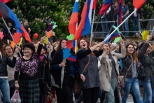 Parade in Donetsk on May 11, 2019