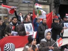 Kundgebung Wien Stephansplatz 15.1.11, einen Tag nach dem Umsturz