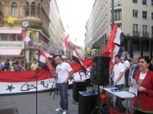 Kundgebung gegen Assad in Wien am 4.9.2011