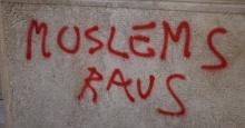 Antiislamische Schmiererei Wiener Innenstadt