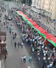 Pro-Lukaschenko-Demo in der Industriestadt Gomel am 6.9.20